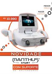 Manthus Start com Suporte de Aplicadores - Terapia Combinada - gordura localizada, celulite, hidrolipoclasia, fortalecimento muscular facial e corporal, drenagem - KLD