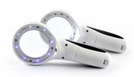 Mini Lupa de LED com 60mm - 8 LEDs UV e 1 LED Branco