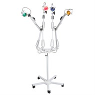 Foco de Luz para Cromoterapia - Tripé com Braços Articuláveis e 4 Lâmpadas (azul, amarelo, vermelho e verde)