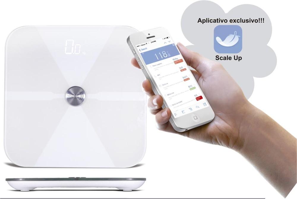 Bioimpedância - Analisador de Composição Corporal com Aplicativo e Bluetooth
