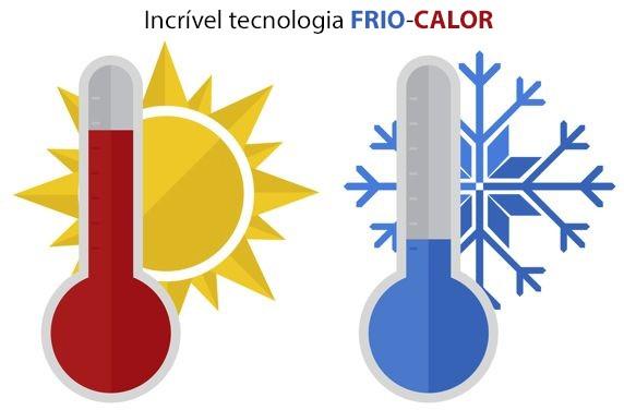Incrível tecnologia Frio-Calor