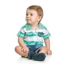 Camisa Polo Bebê Elian Deep Blue Verde