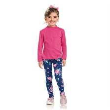 Camisa Infantil 1 a 10 anos Lecimar em Malha Suedine Rosa