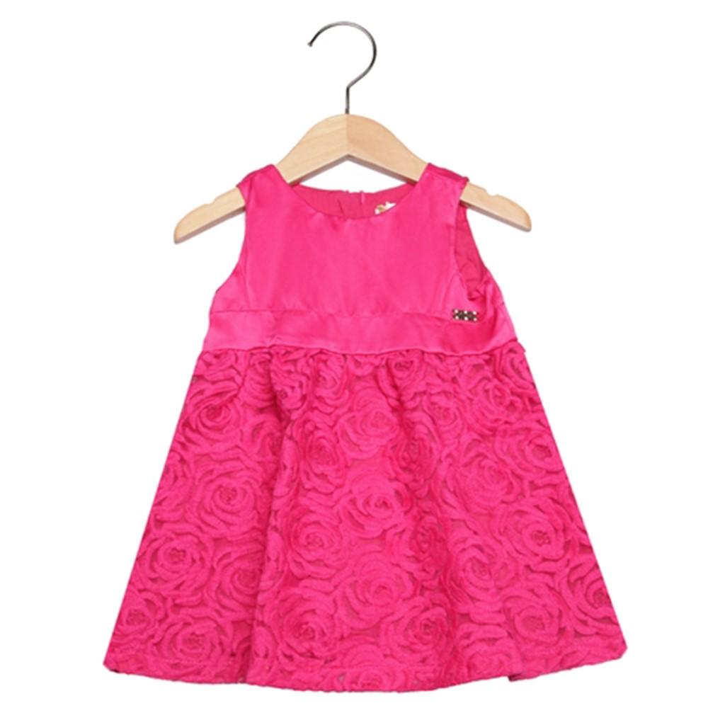 ed431ef3f6 Vestido Infantil 02 Anos Trick Nick com Detalhe de Renda Pink ...