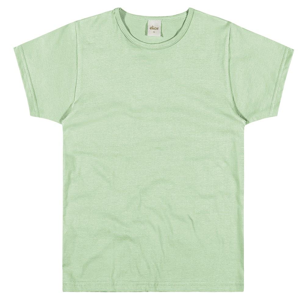 Camisa Infantil Elian Meia Malha Penteada Básica Verde 02 a 10 Anos ... 54b0bac44c7