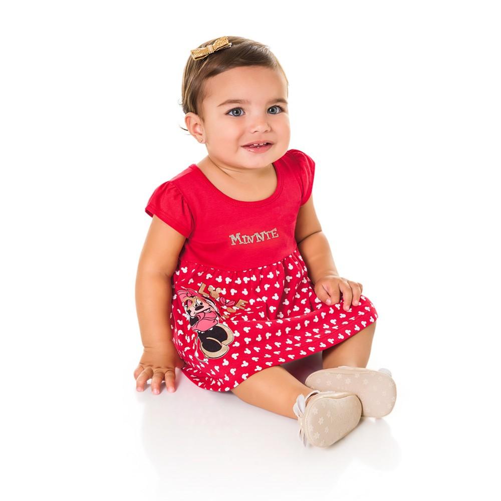 9a8cb06f3f4 Vestido Bebê Brandili Minnie Maçã do Amor - comprar - preço rio de ...