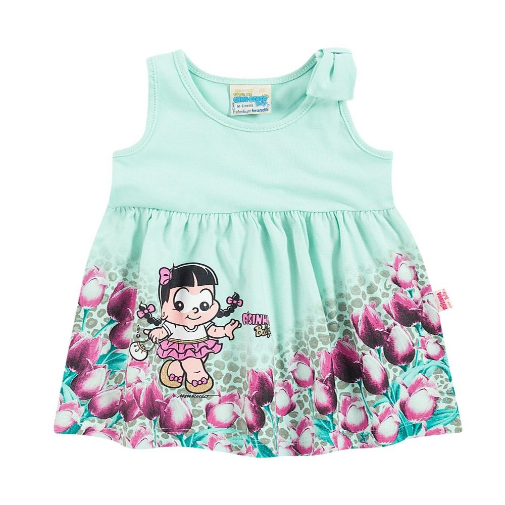 Vestido Bebê Brandili Rosinha Verde Claro Turma da Mônica - comprar ... 4166cb93cbaeb