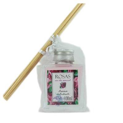 Aroma de Ambiente Óleo de Rosas com varetas - 100ml