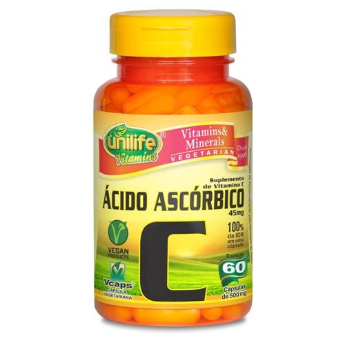 Ácido Ascórbico - Vitamina C - 60 Cápsulas