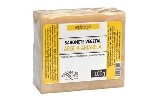 Sabonete Vegetal Argila Amarela - Barra 100g