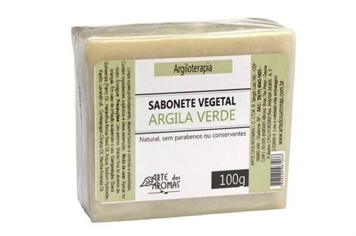 Sabonete Vegetal Argila Verde - Barra 100g