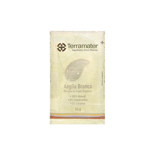 Argila Branca Orgânica Terramater - 30 g