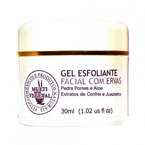 Gel Esfoliante Facial com Ervas - 30 mL