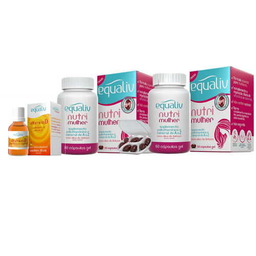 kit Nutri Mulher - Compre 2 - Ganhe 1 Vitamina D
