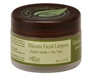 Máscara Facial Limpeza Argila Verde + Tea Tree - 90g