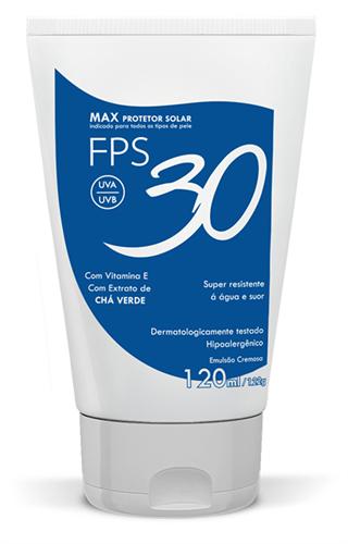 Max Protetor Solar Facial e Corporal (FPS 30 ou 60) - 120ml