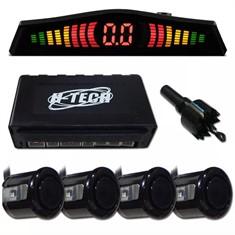 Kit Sensor De Estacionamento C/ 4 Sensores Ré - Preto