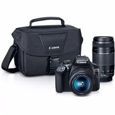 Câmera Digital Canon EOS Rebel T6 com Kit de Lente 18-55mm + Lente 75-300mm + Bolsa 300DG