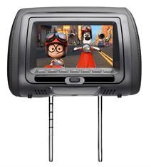 Encosto de Cabeça Htech com tela LCD - Leitor de DVD, Grafite (cada)