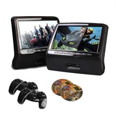 Encosto de Cabeça com tela LCD - USB/SD, Game - Preto (cada)