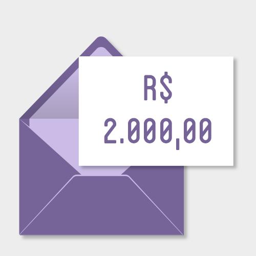 Doação de R$2000,00