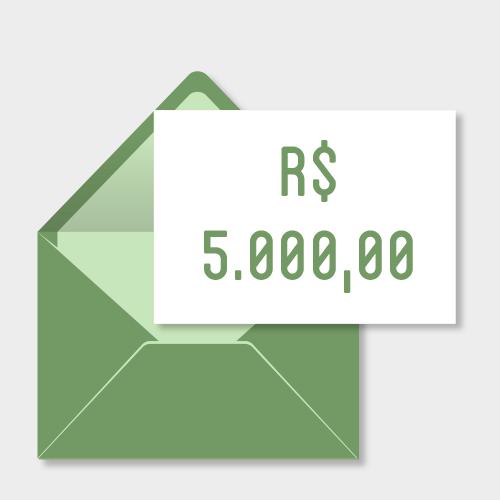 Doação de R$5000,00