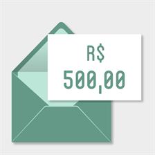 Doação de R$500,00