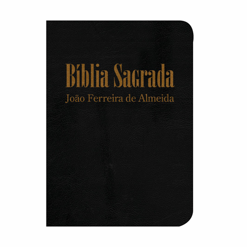 Bíblia Sagrada RC Mini de Bolso - Capa Luxo Preta