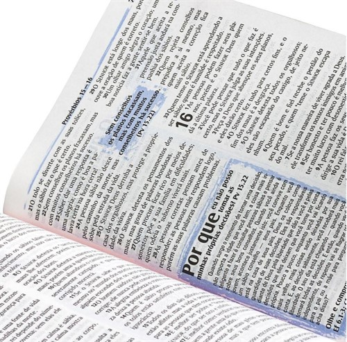 Bíblia de Estudo Para Jovem Masculino Napa Média NTLH
