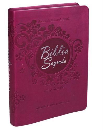 Bíblia Letra Grande Com Índice Vinho