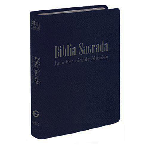 Bíblia Sagrada RC Mini de Bolso - Capa Luxo Azul Escuro