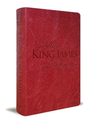 Bíblia King James Para Mulheres Vermelho 1611