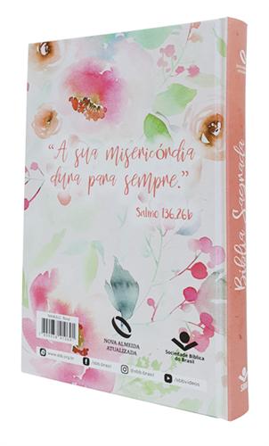 Bíblia Floral Ilustrada Flecha Capa Dura Nova Almeida Atualizada