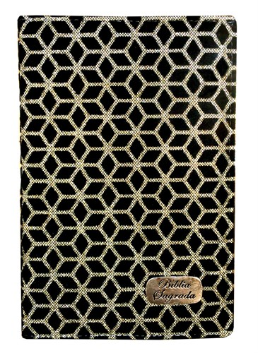 Bíblia Luxo Letra Grande Índice Preto com Dourado