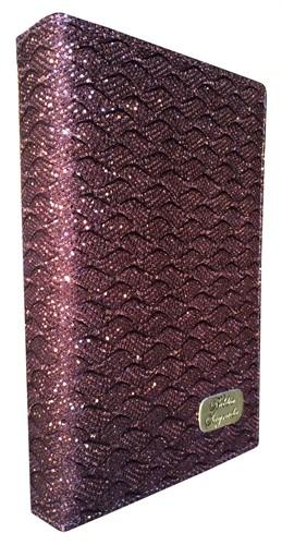 Bíblia Luxo Letra Grande Índice Bronze Brilhante