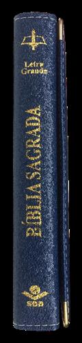 Bíblia Letra Grande Carteira com Velcro Azul