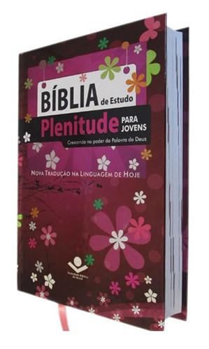 Bíblia de Estudo Plenitude Para Jovens Capa Dura Feminina NTLH