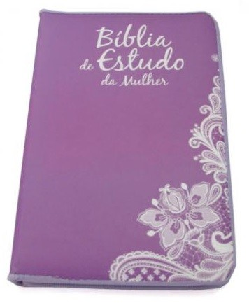 Bíblia de Estudo da Mulher Gold Selection Roxa