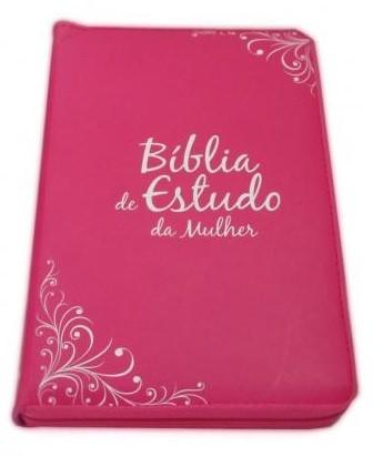 Bíblia de Estudo da Mulher Gold Selection Pink