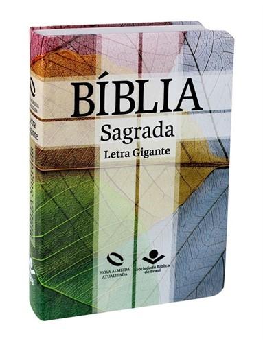 Bíblia Letra Gigante Semi Flexível Cruz Índice Digital Nova Almeida Atualizada