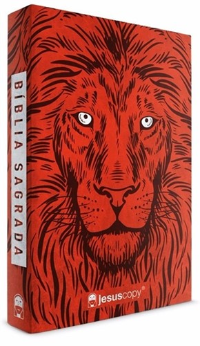 Bíblia JesusCopy - brochura/ Leão Vermelho - NVT