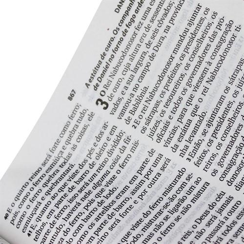Bíblia Harpa Letra Grande Couro Sintético Marrom Escuro