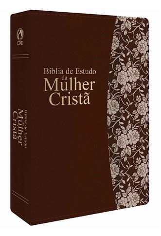 Bíblia de Estudo da Mulher Cristã Grande PU Marrom Revista e Corrigida