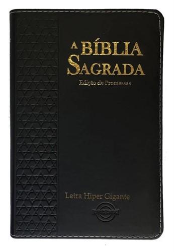 Bíblia Letra Hiper Gigante Mix Estrela Masculina Preto