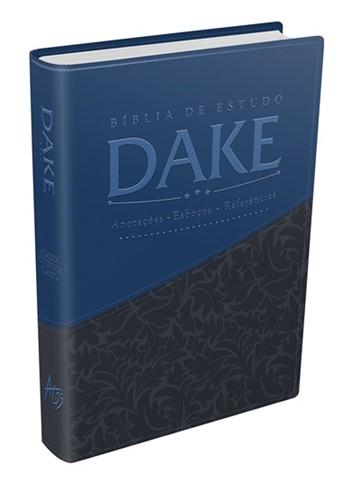 Bíblia de Estudo Dake Azul Com Cinza Luxo