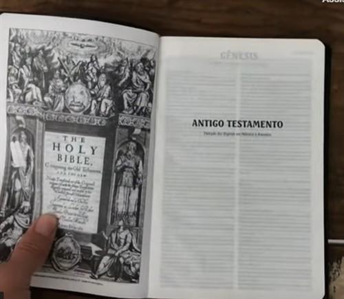 Bíblia King James Slim Capa Luxo Vinho