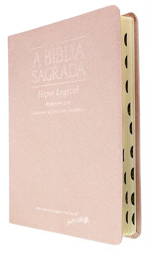 Bíblia Letra Hiper Legível Rosa