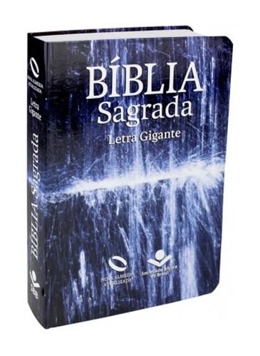 Bíblia Letra Grande Semi Flexível Água