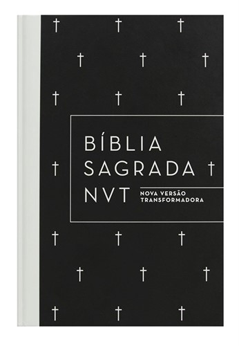 Bíblia NVT Letra Normal Preta/Cruz - Capa Dura