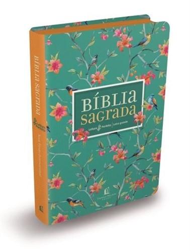 Bíblia Leitura Perfeita Flores - Letra Grande - NVI